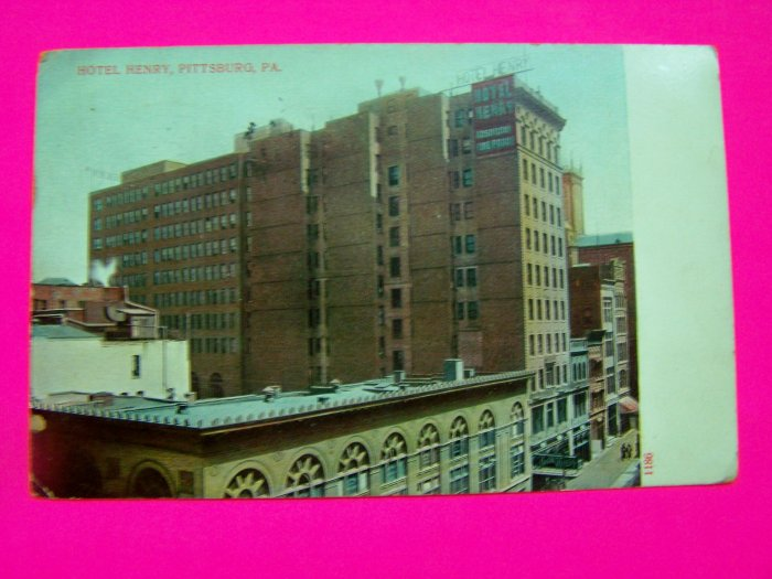 1911 Antique Postcard Hotel Henry Pittsburg PA Pittsburgh Pennsylvania