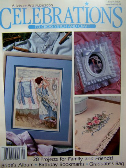 90s Leisure Arts Celebrations Cross Stitch and Crafts Magazine 28 Projects Patterns