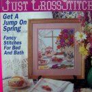 Just Cross Stitch Pattern Magazine Teapot Sampler Patterns Jan Feb 1992