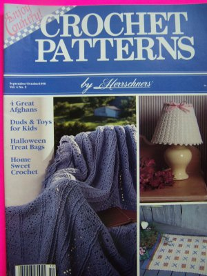 90s Herrschners Crochet Patterns Magazine Afghans Christmas Halloween Pattern