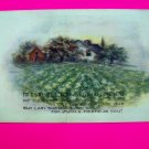 Vintage Postcard Thanksgiving Thoughtful Friend Thank You Card Old Antique Farm Landscape Scene
