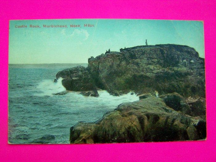 1914 Postcard Castle Rock Marblehead Neck Massachusetts Post Card Mass