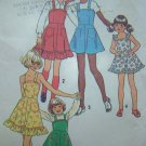 Vintage Sewing Pattern Girls Sundress Jumper Sun Dress Ruffle Hem Patch Pockets 6996