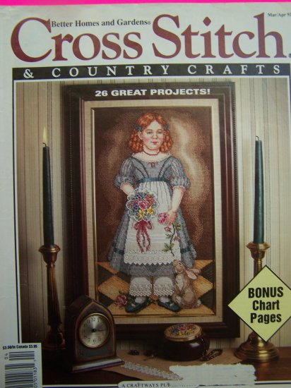90s Better Homes and Gardens Cross Stitch & Country Crafts Pattern Magazine 26 Patterns