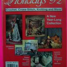 McCalls Holidays 92 Crochet Cross Stitch Knitting More Crafts Pattern Magazine Patterns