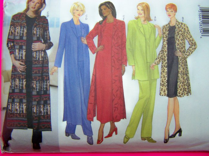 Plus Size Suit 20 22 24 Jacket Duster Dress Shirt Tapered Pants Sewing Pattern 5753