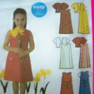 Girls Easy Sewing Pattern A Line Dress Jumper Lined Jacket 3 4 5 6 7 8 # 5635