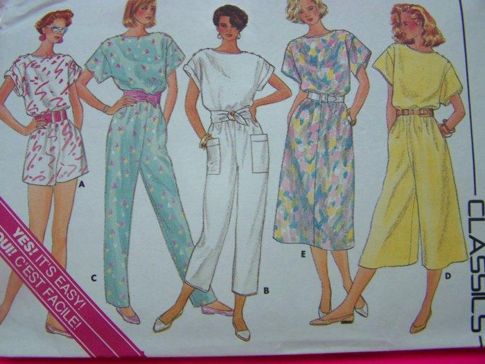 80s A Line Dress or Jumpsuit Plus Size 18 20 22 Vintage Sewing Pattern