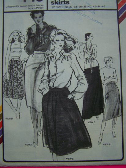 70s Vintage Sewing Pattern Skirts Straight A Line Dirndl Short Midi or Long Maxi 445