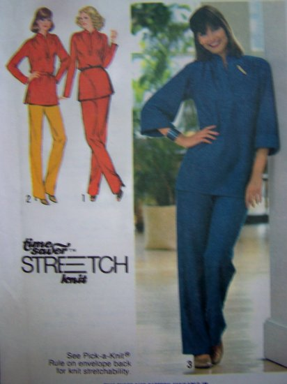 70s Vintage Pants Pullover Tunic Top Tie Belt Shirt Sz 16 18 20 Sewing Pattern 9233
