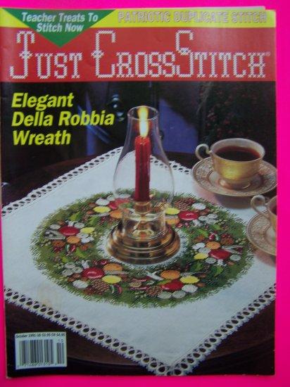 1990's Just Cross Stitch Back Issue Pattern Magazine Patterns Volume 9 # 3
