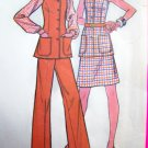 1970s Vintage Sewing Pattern Sleeveless Tunic Top Jumper Jacket Skirt Pants 3545