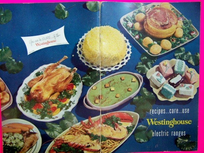 1950s Vintage Westinghouse Recipes Care Use Electric Ranges Book Tips Cookbook