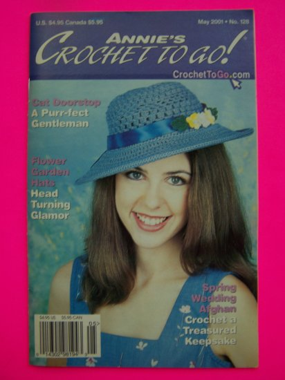 2001 Annies Crochet To Go Book 128 Crocheting 13 Patterns