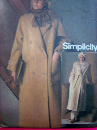 80s Vintage Connoisseur Sewing Pattern Wrap Coat B 36 Button Double Breasted Jacket 6578