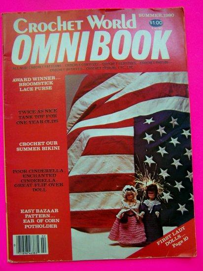 1980s Vintage Crochet World Omnibook Back Issue Pattern