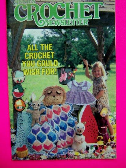 Vintage 1980s Annies Crochet Newsletter Pattern Magazine Book # 10 Crocheting Patterns