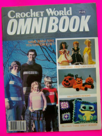 Vintage 80s Crochet World Omnibook Pattern Magazine Fall 1980