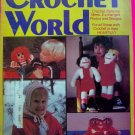 Vintage Crochet World Feb 1982 Pattern Magazine Afghans Baby Hats
