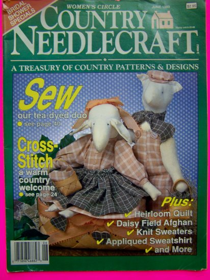 1980s Womens Circle Country Needlecraft Patterns Magazine Vintage Pattern Book