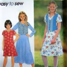 Girls Flared 2 Length Dress Plus Size 8 1/2 - 16 1/2 Easy Sewing Pattern 7223