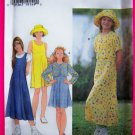 Girls 12 14 Jacket Dress Jumper Sundress Hat Simplicity Sewing Pattern 7225
