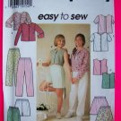 Girls 7 8 10 Easy Knit Shirts Mini Skirt Pants SHorts Sewing Pattern 7228