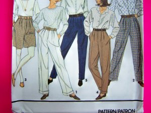 Dress Pants or Shorts Pleat Front Fly Misses 12 14 16 Sewing Pattern 7941
