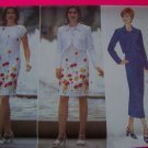 Misses Loose Unlined Waist Jacket Tapered Dress 6 8 10 Sewing Pattern 4880