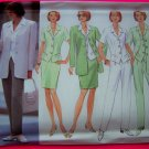 Princess Seam Jacket Top Skirt Pants Suit 12 14 16 Misses Butterick Sewing Pattern 4888