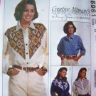 Misses 8 10 12 Long Sleeve Western Shirts with Yoke Variations Sewing Pattern 6961