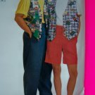 Mens Misses XL XXL Lined Vest Shirt Elastic Waist Pants Shorts Sewing Pattern 7469