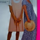 Pullover Empire Dress Short or Long Length XS S M 4 - 14 McCalls Sewing Pattern 7479