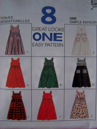 Girls Empire Waist Jumper Dress Sundress 10 12 14 Sewing Pattern 7788