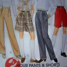 Misses XS 4 6 8 Pencil Leg Pants Flared Shorts McCalls Sewing Pattern 7815
