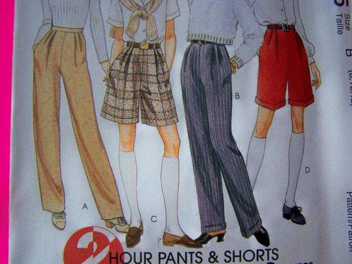 Ladies 10 12 14 Pencil Leg Cuff or Straight Pants Shorts McCalls Sewing Pattern 7815