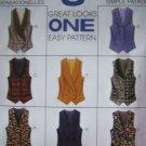 1990s Misses Lined Vest 8 Great Vests 8 10 12 McCalls Sewing Pattern 7819
