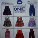Toddler Boys Girls 1 2 3 Jumpsuit Jumper Dress McCalls Sewing Pattern 7831