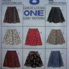 Girls 4 5 6 A Line or Flared Skirts 8 Views McCalls Sewing Pattern 7841