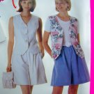 Uncut Easy Misses 12 14 16 18 Lined Vest Big Leg Shorts Sewing Pattern 8030