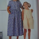 Girls Pin Tucks Ruffles Dress Romper 2 3 4 5 6 McCalls Sewing Pattern 8603