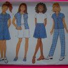 USA Free S&H New Girls 7 8 10 A Line Dress Skirt Shorts Shirt Pants Sewing Pattern 4903