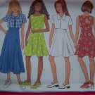 USA Free S&H New Girls 12 14 Flared Dress Jacket Princess Seams Keyhole Sewing Pattern 4904