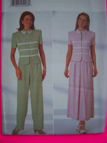 Misses 12 14 16 Top A Line Shirt Striaght Leg Pants Jessica Sewing Pattern 4914