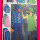 Girls Fleece  Jacket Skirt Pants Hat 7 8 10 Sewing Pattern 5721