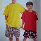 Kids Boys Easy T Shirt Elastic Waist Shorts 7 8 10 12 14 Sewing Pattern 8759