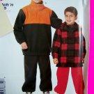 Boys Fleece Sweatshirt Pull on Winter Pants 3 4 5 6 Sewing Pattern 8875 Free Shipping