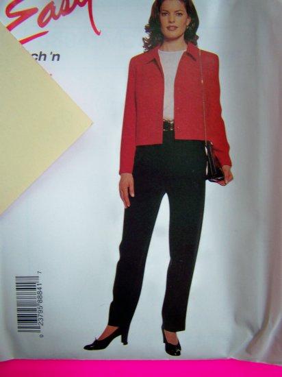 Jacket Top Straight Legged Pants Plus Size 16 18 20 22 McCalls Sewing Pattern 8884