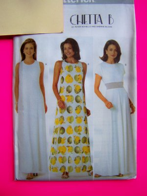 1990s Misses Evening Gown Long Party Dress 6 8 10 12 Chetta B Sewing Pattern 4916