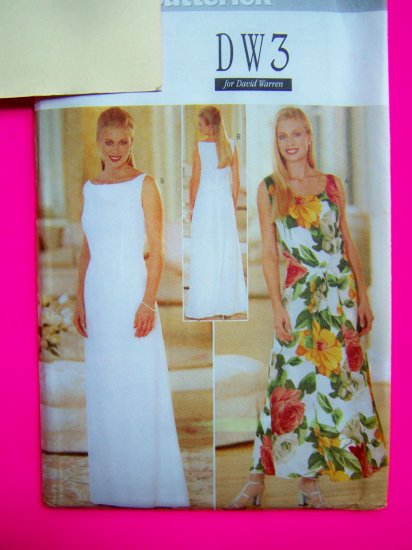 Misses Fitted A Line Dress Evening Gown Formal Sundress 6 8 10 12 DW3 Sewing Pattern 4929 Uncut